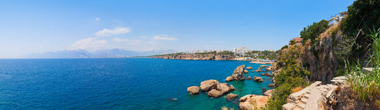 Beach at Kaleici in Antalya, Turkey Stock Photography