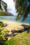 Beach at Kalihikai Park in Kawai, Hawaii Royalty Free Stock Photo