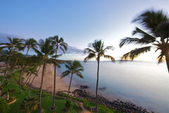 Beach at Kamaole Beach park II in Kihei Maui royalty free stock image
