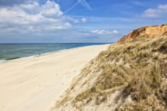 Beach at Kampen, Sylt. Beach below Rotes Kliff dunes at Kampen, Sylt Stock Photography