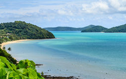 Beach from Kaokhad a Viewpoint Stock Photography
