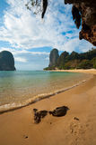 Beach Karst Cliff Phra Nang Railay Stock Photography