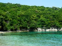 Beach in Kassiopi, Corfu, Greece Stock Photography