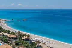 Beach of Kathisma island of Lefkada Royalty Free Stock Photography