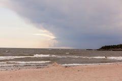 Katthammarsvik. Beach in katthammarsvik in Gotland Sweden Royalty Free Stock Image