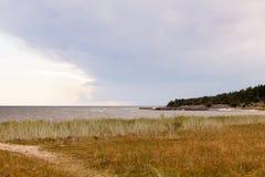 Katthammarsvik. Beach in katthammarsvik in Gotland Sweden Royalty Free Stock Photos