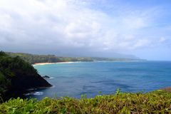 Beach in kauai Royalty Free Stock Photo