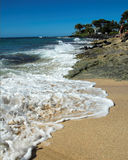 Beach in Kauai, Hawaii. A tropical beach in Kauai, Hawaii stock photo