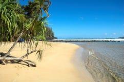Beach in Kauai, Hawaii. A tropical beach in Kauai, Hawaii Stock Images