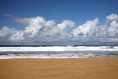 Beach in Kauai Hawaii With Nobody There Royalty Free Stock Images