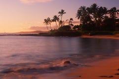 Beach at Kauai, HI. Resort hotel in Hanapepe Bay, Kauai, Hawaii Stock Photography