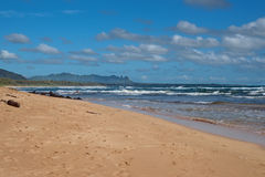 Beach on Kauai Island of Hawaii Stock Photography