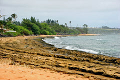 Beach on Kauai Island Royalty Free Stock Images