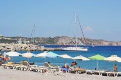 Beach in Kefalos Stock Image