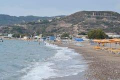 Beach in Kefalos Royalty Free Stock Photos
