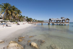 Beach in Key West, Florida. Beautiful white sand beach in Key West, Florida, USA Royalty Free Stock Image