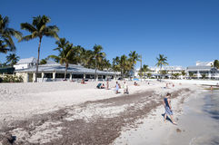 Beach in Key West, Florida. Beautiful white sand beach in Key West, Florida, USA Stock Photo