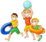 Beach kids. Stock Photo