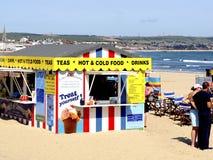 Beach kiosk, Weymouth, Dorset. A beach kiosk cafe on the beach at Weymouth, Dorset, England, UK Royalty Free Stock Photography