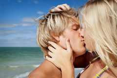 Beach kiss Stock Photo