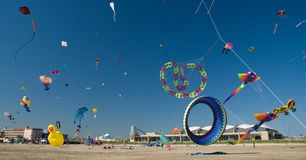 Beach Kite Festival Royalty Free Stock Photography