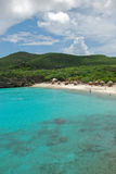 Curacao Beach. The beautiful beach, the knip and the blue sea on the island of Curacao stock image