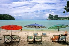 Beach on Ko Phi Phi Don, Thailand royalty free stock photo