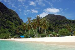 Beach on Ko Phi Phi, Thailand Royalty Free Stock Images