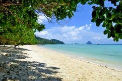 Koh Kradan beach. A beach of Koh Kradan in the Andaman Sea, Trang province, Thailand Royalty Free Stock Photos