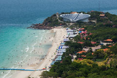 Beach of Koh Larn Island from viewpoint Koh Larn Island in Patta Stock Image