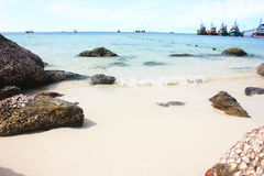 The beach, Koh Larn, Pattaya. The beaches are white sand and the reef Stock Photos