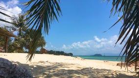Beach at koh Phangan. Beautiful paradise beach at koh Phangan, Thailand stock footage