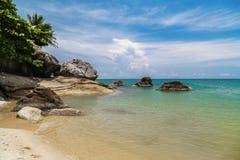 Beach on Koh Phangan. Thailand royalty free stock image