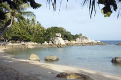 Beach on Koh Tao island, Thailand Royalty Free Stock Photos