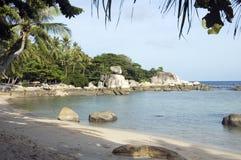 Beach on Koh Tao island, Thailand. Beach near the harbour, on Koh Tao island, Thailand Royalty Free Stock Photos
