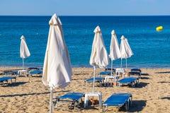 Beach in Kolymbia. Rhodes, Greece Stock Photos