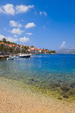 Beach at Korcula, Croatia Royalty Free Stock Image