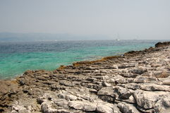Beach on Korcula island in Croatia Stock Photography