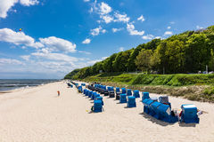The beach in Koserow on the island Usedom, Germany Royalty Free Stock Photography