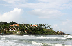 Beach, kovalam. The beach of kovalam in india stock photos