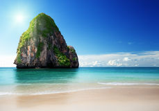 Beach in Krabi province Stock Photography