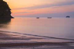 Beach of Krabi. At the sunrise royalty free stock photos