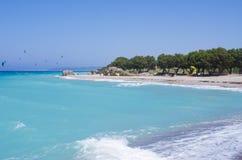 Beach in Kremasti, Rhodes island, Greece Royalty Free Stock Photos