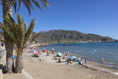 Beach in La Azohia, region of Murcia, Spain Stock Images