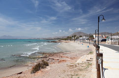 Beach of La Azohia, Spain Royalty Free Stock Photography