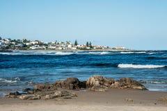 Beach in La Barra in Punta del Este, Uruguay. Beach in La Barra, a picturesque famous popular seaside holiday destination in Punta del Este, Uruguay Royalty Free Stock Photos