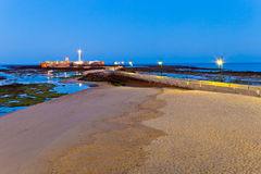 Beach of La Caleta of Cadiz Royalty Free Stock Photos