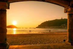 Beach of La Concha Royalty Free Stock Photography