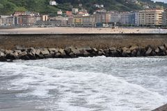 The beach ,,La Concha,, in the summer royalty free stock images