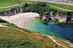 Beach in La Coruna, Spain Stock Image